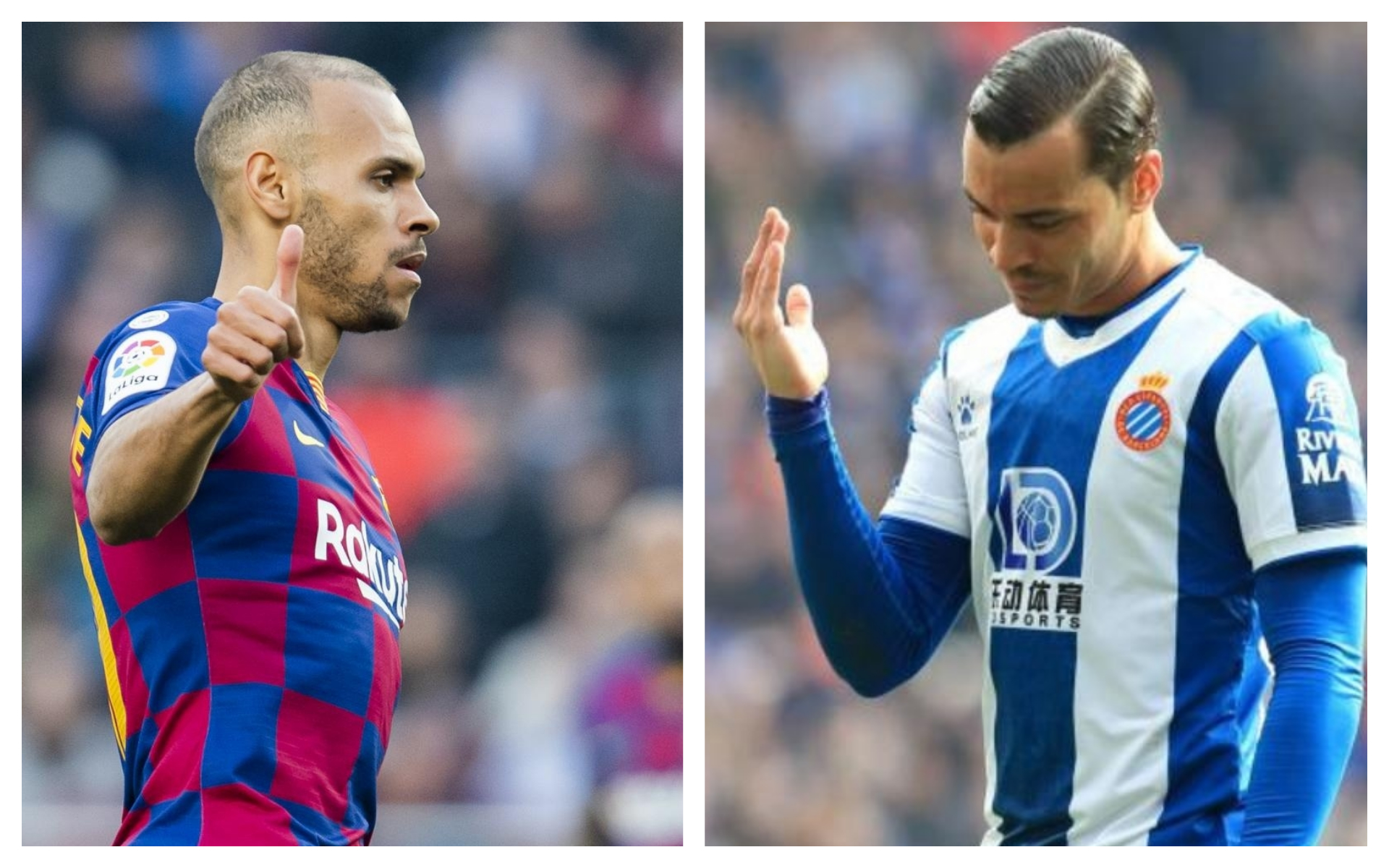 Who has a better 9, Barcelona or the second-league Espanyol?