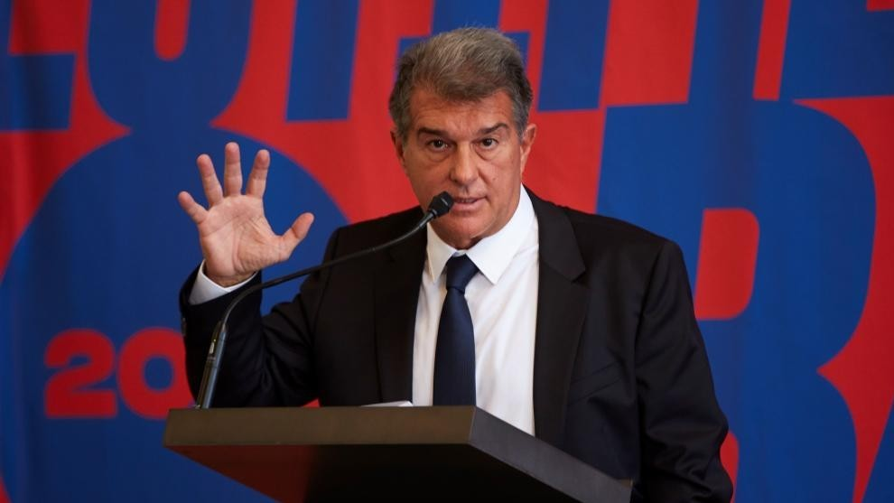 Barca presidential candidate Laporta safeguards Messi and opens fire on City and PSG: They are state clubs getting around FFP