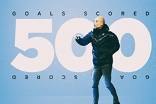City reaches 501 goals in 199 games with Pep Guardiola!