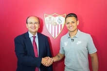 A whole new team: Chicharito is Monchi's 13th signing