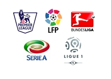 The favourites for winning the European top five leagues